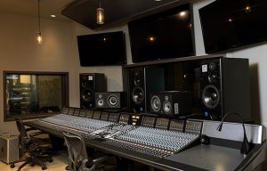 The remodelled control room of Evergreen studios